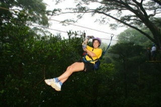Zip lining in Central America